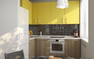 Удобная кухонная мебель для малогабаритной кухни